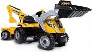 SMOBY Traktorius pedalinis su priekaba Builder Max oranžinis, 7600710301 7600710301
