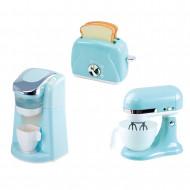 PLAYGO virtuviniai prietaisai (kavos aparatas, mikseris ir tosteris) mėlynos spalvos, 38026/38326 38326