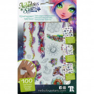NEBULOUS STARS rinkinys Temporary Tattoos - Asst., 11410 11410