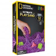 NATIONAL GEOGRAPHIC kinetinio smėlio rinkinys (purpurinis), 0,9kg, 20490 20490