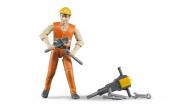 BRUDER rinkinys darbininkas su priedais, 60020 60020