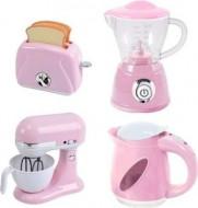 PLAYGO virtuviniai prietaisai (virdulys, trintuvas, plakiklis ir skrudintuvė) rožinės spalvos, 38286 38286