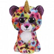 TY Beanie Boos rainbow leopard w/horn GISELLE 15 cm, TY36284
