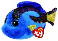 TY Beanie Boos pliušinė mėlynoji žuvis AQUA 15,5cm , TY37243
