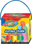 COLORINO CREATIVE JUMBO spalvota kreida dėžutėje su rankena 15 vnt, 65825PTR 65825PTR