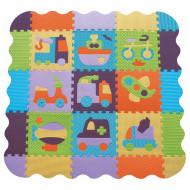 BABYGREAT kilimėlis-dėlionė su borteliais Transportas, 122x122 cm, 5002006 5002006