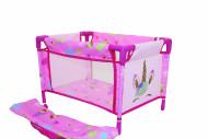 BAMBOLINA lėlės lova su transportavimo krepšiu ir vienaragio atvaizdais Amore, BD1853 BD1853