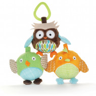 SKIP HOP Treetop Friends minkštų gyvūnų-kamuolių rinkinys Ball Trio, 307505