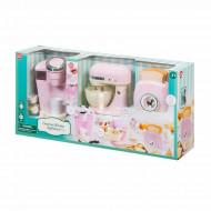 PLAYGO virtuviniai prietaisai (kavos aparatas, mikseris ir tosteris) rožinės spalvos, 38036/38336 38336