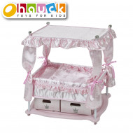 HAUCK lova lėlei Princess, rožinė, D90416 D90416