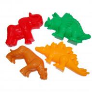 POLESIE smėlio formelių rinkinys: tigras, mamutas, dinozauras, 36568 36568