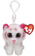 TY Beanie Boos pliušinis pakabukas rožnis/baltas tigras TABOR 9cm, TY35241 TY35241