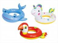 BESTWAY gyvūnų formos plaukimo ratas, asort., 36128 36128
