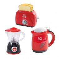 PLAYGO virtuviniai prietaisai (blenderis, virdulys, mikseris ir tosteris) raudonos spalvos, 38266 38266