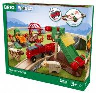 BRIO traukinio bėgių rinkinys Animal Farm, 33984 33984