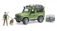 BRUDER automobilis Land Rover Defender su miškininku ir šunimi, 02587 02587