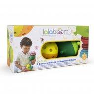LALABOOM 2 sensoriniai kamuoliai ir edukaciniai karoliukai, 8 dalys, BL900 BL900