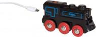BRIO RAILWAY traukinys su pakraunamu varikliu ir USB kabeliu, 33599 33599