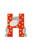 TRUDI SEVI abėcėlės raidė H su gyvūnėliu, medinė, 81608 81608