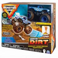 MONSTER JAM kinetinio smėlio rinkinys su visureigiu Kinetic Dirt Starter, 6045198 6045198