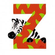 TRUDI SEVI abėcėlės raidė Z su gyvūnėliu, medinė, 81626 81626