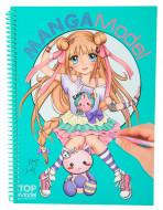 TOPMODEL spalvinimo knyga  su lipdukais Manga, 8516 8516