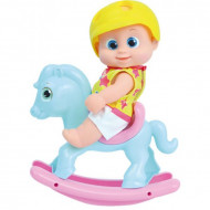 BOUNCIN BABIES lėlė Jodinėja ant arkliuko, besisupanti 16cm, 801003 801003