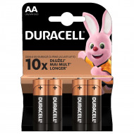 DURACELL baterijos AA, 4 vnt., DURB005