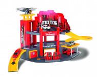 MAJORETTE garažas Motor City + mašinėlė, 212058211 212058211