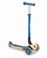 GLOBBER paspirtukas Primo Foldable Wood Lights mėlyna, 436-100 436-100