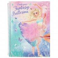 TOPMODEL Create Your Fantasy Model Spalvinimo knyga Baletas, 11051 11051
