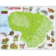 LARSEN dėlionė Lietuvos gamtos žemėlapis, K47 K47