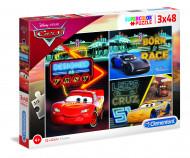 CLEMENTONI Dėlionė Cars 3X48pcs., 25235 25235