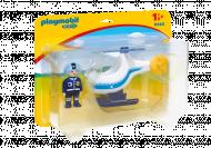 PLAYMOBIL 1.2.3 Rinkinys Policijos sraigtasparnis su policininku, 9383 9383