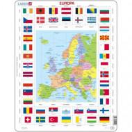 LARSEN Europos žemėlapis+Vėliavos, KL1LT KL1LT