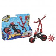 SPIDERMAN figūrėlė su motociklu Bend and Flex, F02365L0 F02365L0