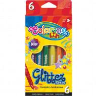 COLORINO CREATIVE blizgūs flomasteriai 6 spalvos, 65641PTR 65641PTR