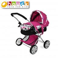 HAUCK vežimėlis lėlei Diana Pram, rožinis, D86509 D86509