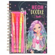 TOPMODEL Neon Doodle Book knygelė su rašikliais, 10273 10273