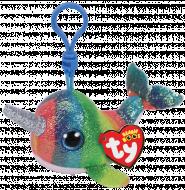 TY Beanie Boos pliušinis pakabukas banginis spalvotas NORI, TY36560