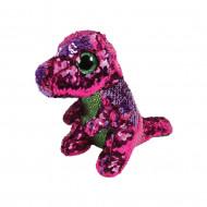 TY Beanie Boos Flippable dinozauras rožinis/žalias STOMPY 15 cm, TY36262