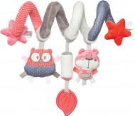 CANPOL BABIES interaktyvus lovelės/ vežimėlio žaislas spiralė Pastel Friends, 68/064_cor 68/064_cor