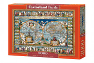 CASTORLAND dėlionė Pasaulio žemėlaipis, 1639, 2000d., C-200733-2 C-200733-2