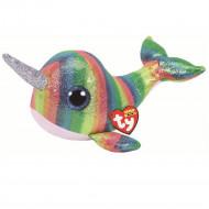 TY Beanie Boos pliušinis banginis spalvotas NORI, 23 cm, TY36418