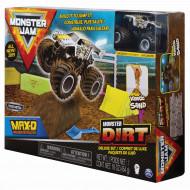 MONSTER JAM kinetinio smėlio rinkinys su visureigiu Kinetic Dirt Deluxe, 6044986 6044986
