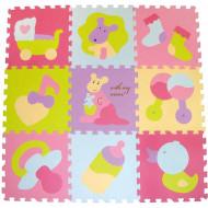 BABYGREAT kilimėlis-dėlionė Spalvoti žaisliukai, 92x92 cm, 5002019 5002019