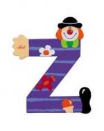 TRUDI SEVI abėcėlės raidė-klounas Z, medinė, 81762 81762
