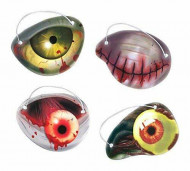 AMSCAN Zombie popierinės akys 12 pcs, 398147-55 398147-55