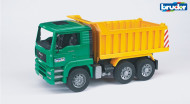 BRUDER sunkvežimis žalias su geltona priekaba, 02765 02765