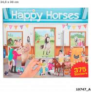 Lipdukų knyga Create Your Happy Horses, 10747 10747